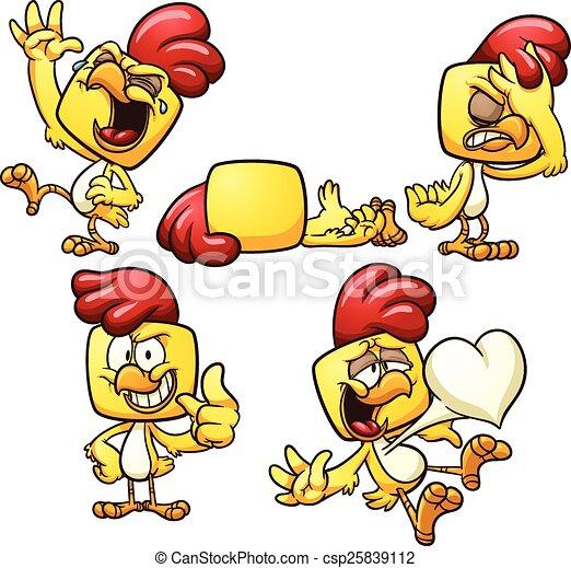Pollo de dibujos animados - csp25839112