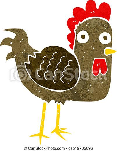 Pollo de dibujos animados - csp19705096