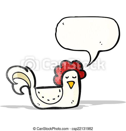 Pollo de dibujos animados - csp22131982