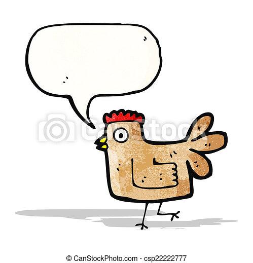 Pollo de dibujos animados - csp22222777
