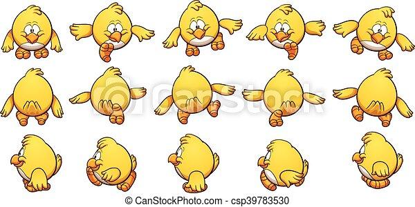 Pollo de dibujos animados - csp39783530