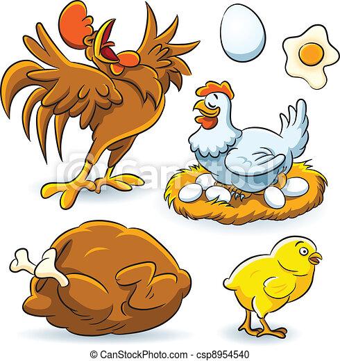 Colección de pollo - csp8954540