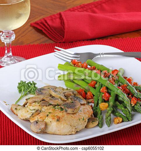 pollo, comida, filete - csp6055102