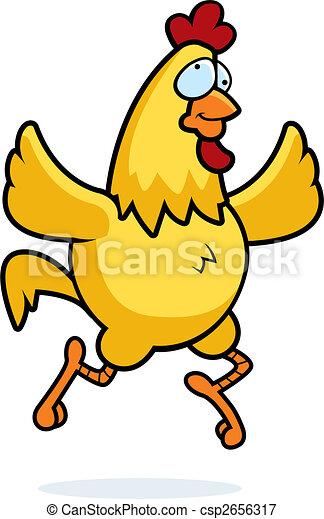 Pollo corriendo - csp2656317