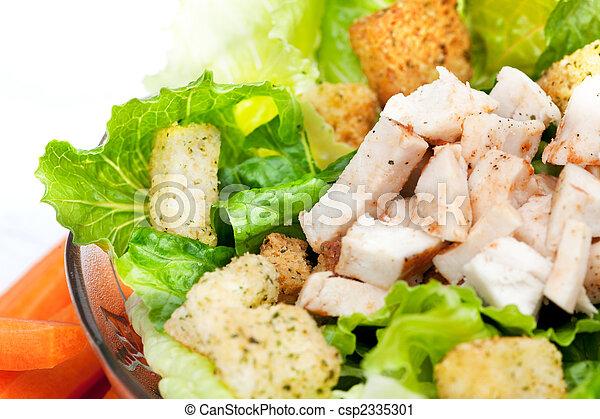 pollo, dettaglio, insalata - csp2335301
