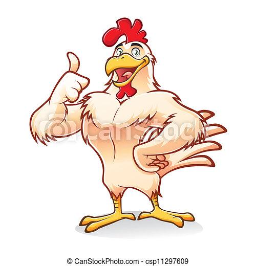 Pollo fuerte - csp11297609
