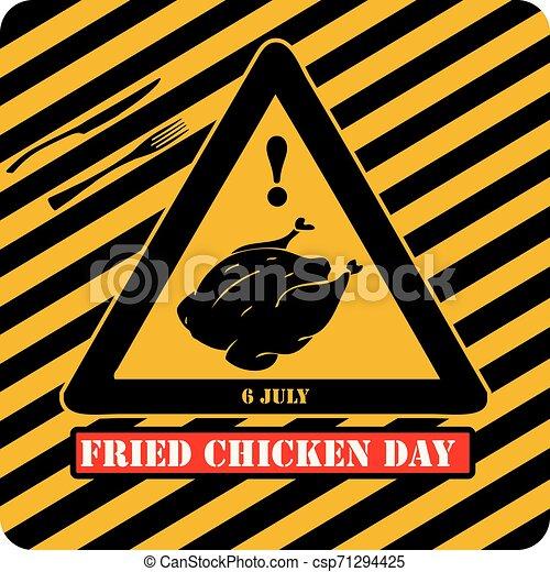 Día de pollo frito industrial - csp71294425
