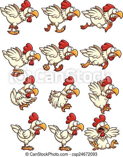 Arvejas de pollo - csp24672093