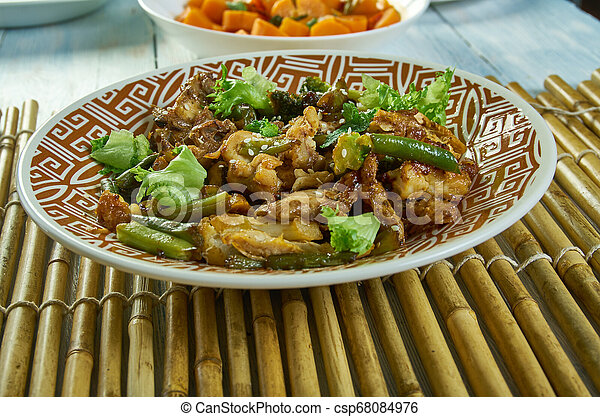 pollo, teriyaki, casseruola - csp68084976