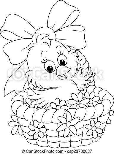 Chica de Pascua - csp23738037