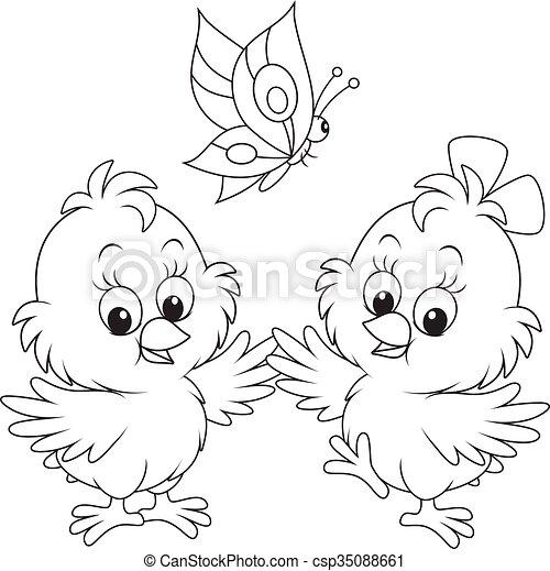 Chicas de Pascua - csp35088661