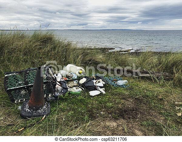 Polluted Coastline Environment - csp63211706