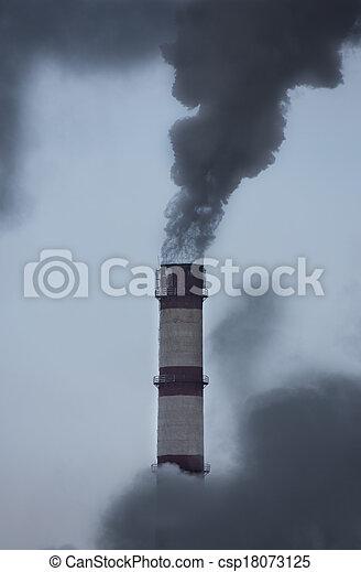 El tubo de fusión contamina la atmósfera - csp18073125