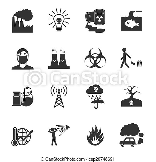Pollution Icons Set - csp20748691