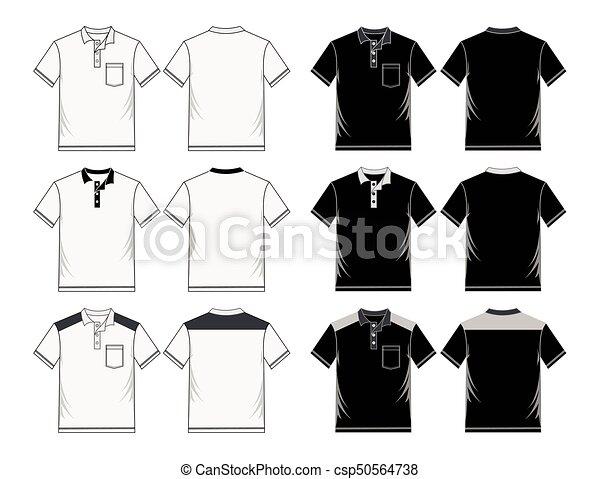 Las plantillas de diseño de camisa de polo masculino. - csp50564738