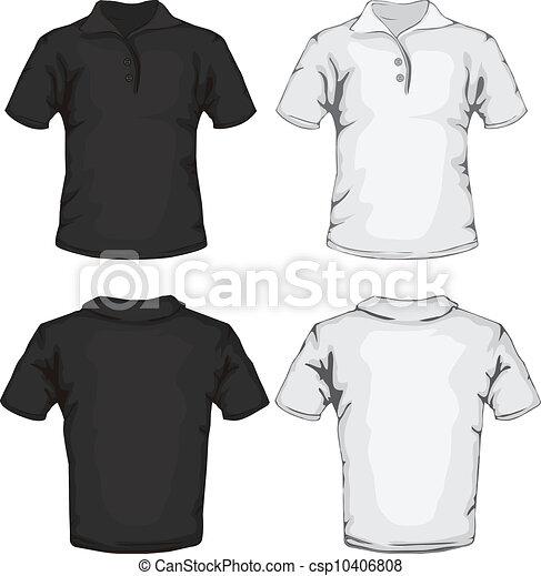polo shirt template design.