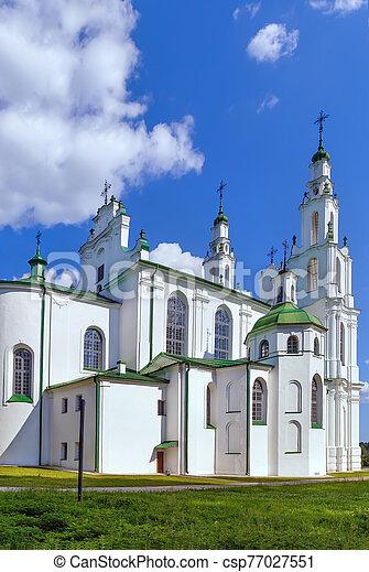 polotsk, sophia, belarus, catedral, santo - csp77027551