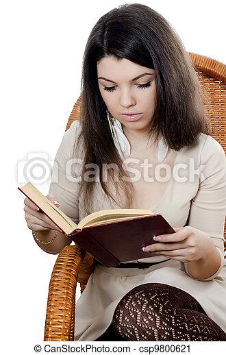 Leggere In Poltrona.Poltrona Leggere Libro Ragazza