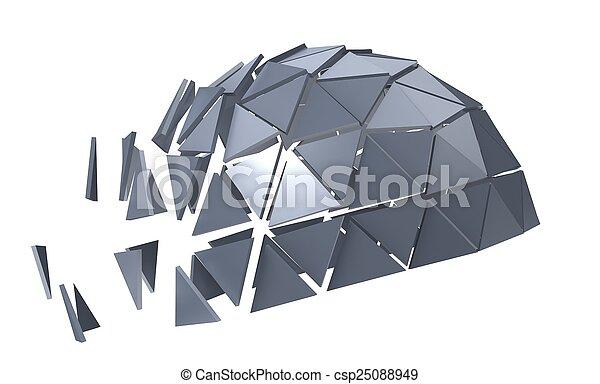 polyèdre, métallique - csp25088949