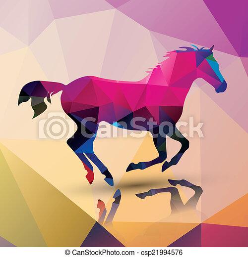 Polygon horse - csp21994576