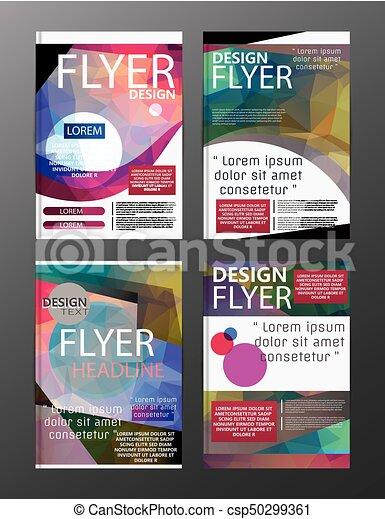 Polygon Modern Brochure Layout Design Templateer Leaflet Clip