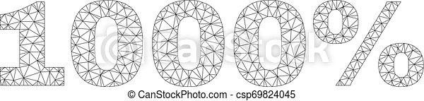 Polygonal 2D 1000% Text Label - csp69824045