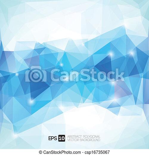 polygonal, abstract, geometrisch, achtergrond - csp16735067