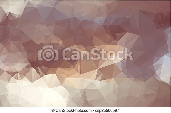 polygonal, abstrakcyjny, tło - csp25580597