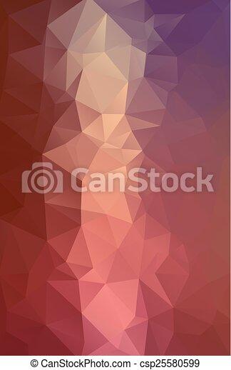 polygonal, abstrakcyjny, tło - csp25580599