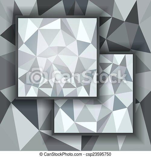 polygonal, abstrakcyjny, tło - csp23595750