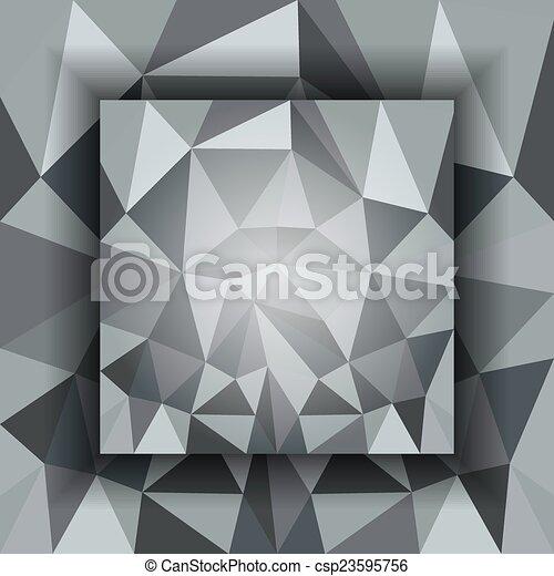 polygonal, abstrakcyjny, tło - csp23595756