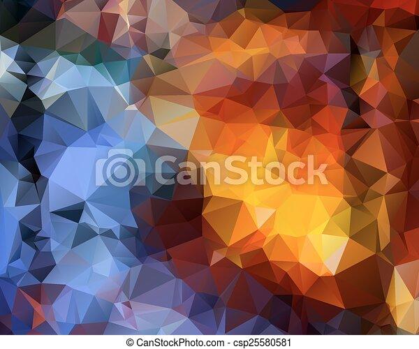 polygonal, abstrakcyjny, tło - csp25580581