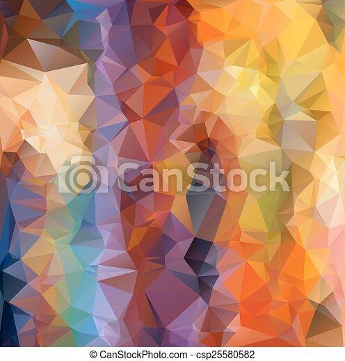 polygonal, abstrakcyjny, tło - csp25580582