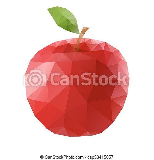Polygonal apple - csp33415057