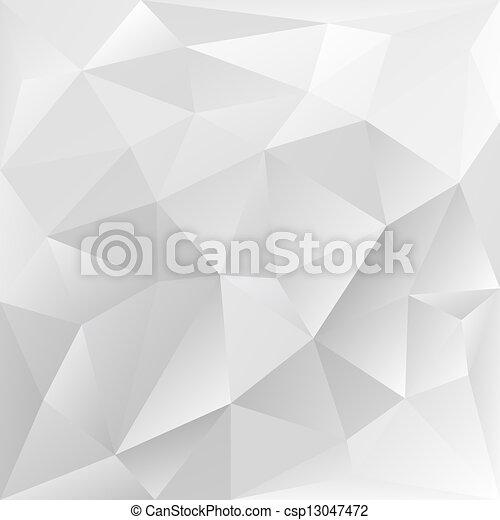 polygonal, collectief, grijze , achtergrond, textuur - csp13047472