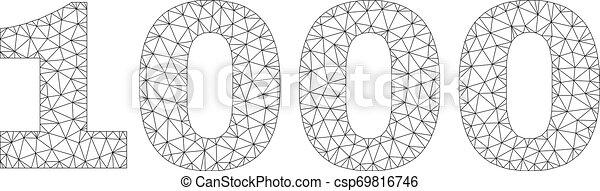 Polygonal Network 1000 Text Caption - csp69816746