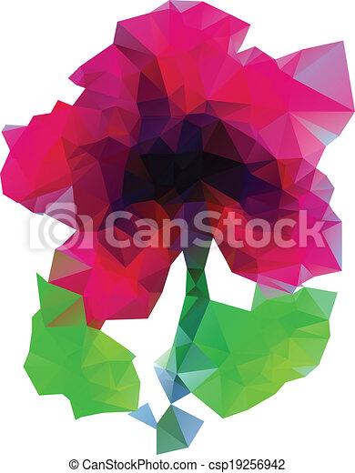polygonal, purpurrote blume - csp19256942