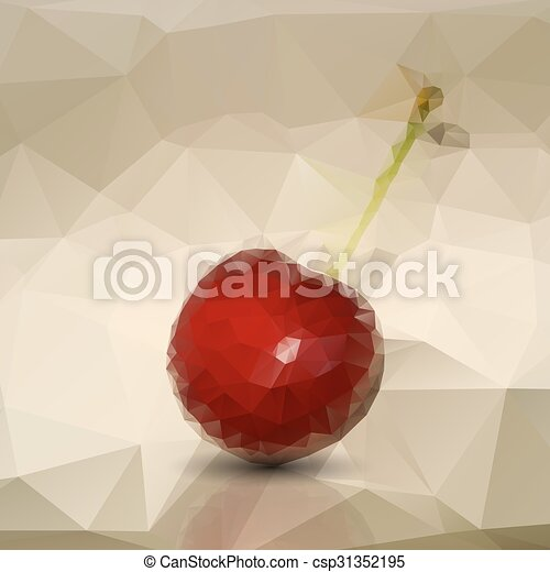 Polygonal red cherries - csp31352195