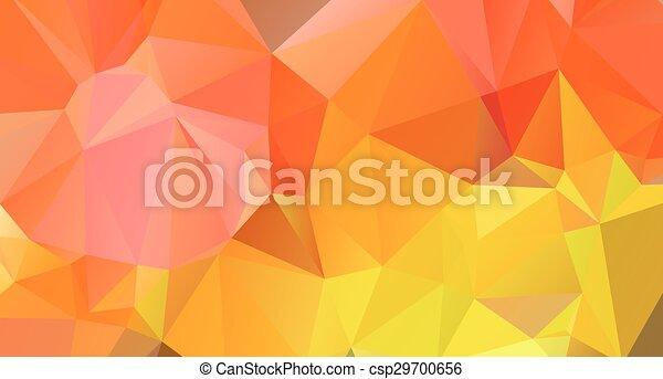 Un fondo brillante y colorido poligonal - csp29700656