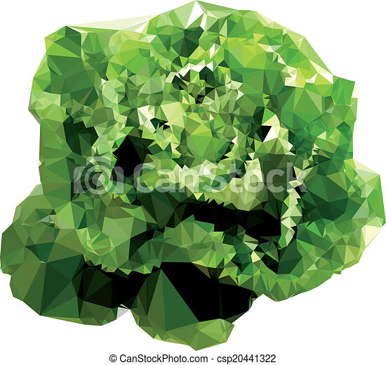 polygonal, salade, illustration - csp20441322