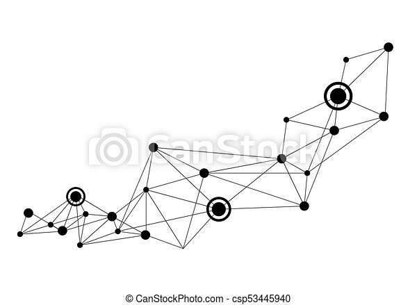 Drawing Lines With Photo Cs : Polygonal space background with connecting dots and lines eps