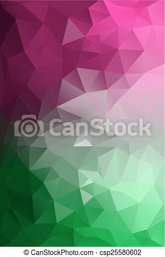 polygonal, tło, abstrakcyjny - csp25580602