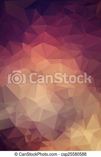 polygonal, tło, abstrakcyjny - csp25580588