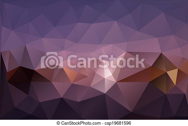 polygonal, tło - csp19681596