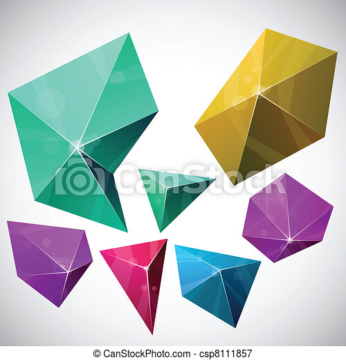 Polygonal vibrant pyramid. - csp8111857
