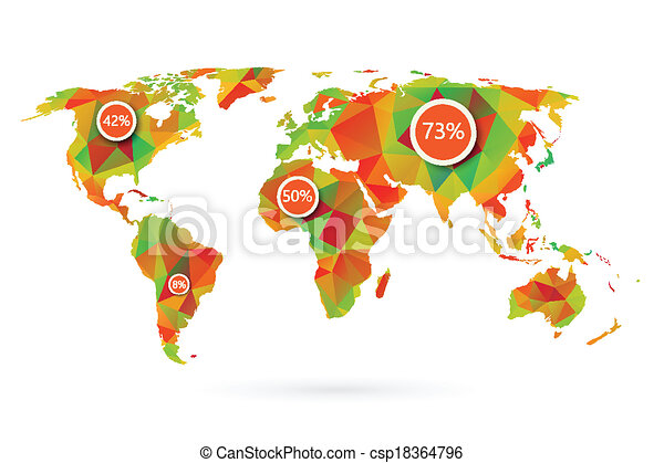 Polygonal world map vector illustration eps vectors search clip polygonal world map csp18364796 gumiabroncs Gallery