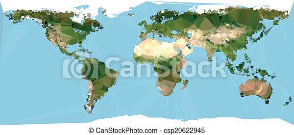 Polygonal world map geometrical world map vector eps vector polygonal world map csp20622945 freerunsca Choice Image