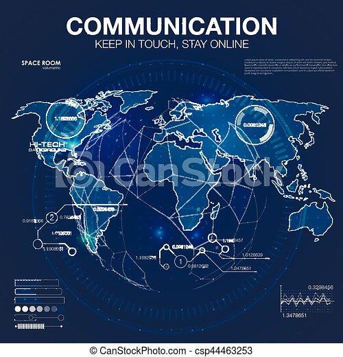 Polygonal world map global travel geography and connect continent polygonal world map global travel geography and connect continent and planet vector illustration freerunsca Choice Image
