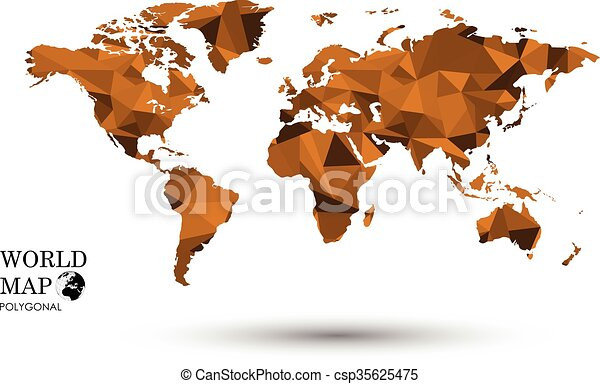 Polygonal world map map world global earth national polygon polygonal world map csp35625475 gumiabroncs Gallery