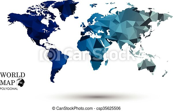 Polygonal world map map world global earth national polygon polygonal world map csp35625506 gumiabroncs Image collections